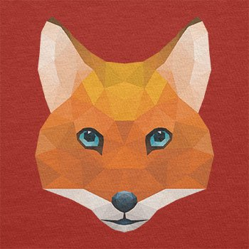 TEXLAB - Poly Mr. Fox - Damen T-Shirt Rot