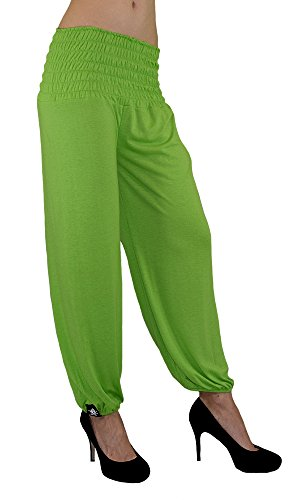 S&LU Gorilla-Star Damen Yoga,Wellness Hose mit dehnbarem Bund in 3 Größen von XXS bis 5XL wählbar M-Grün Einheitsgröße XXL-5XL