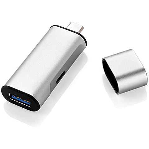 GranVela USB-C Portable a 1 puerto USB 3.0 Hub con tipo C puerto de carga para USB tipo - C para la nueva MacBook, ChromeBook Pixel y más -