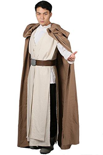 Herren Cosplay Kostüm Outfit Robe Erwachsener Anzug Mit Umhang Unterhemd ärmellos Tunic Gürtel Verrücktes (Custom Luke Kostüme Skywalker)