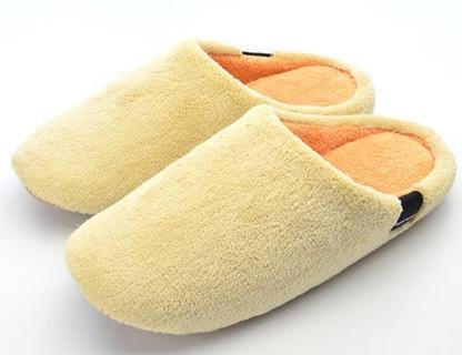 Casa famiglia coral velluto coperta cotone pantofole, scarpe, uomini e donne autunno e inverno coppia carina , female green female yellow