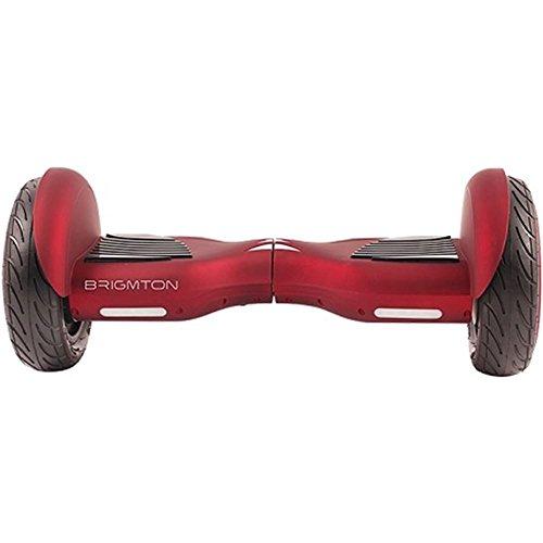 """Patinete Eléctrico Hoverboard Brigmton Bboard101bta 10"""" - Rojo - Bluetooth"""