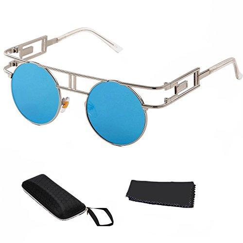Gafas de sol góticas Hombre Reflectoras al aire Libre Steampunk Sunglasses