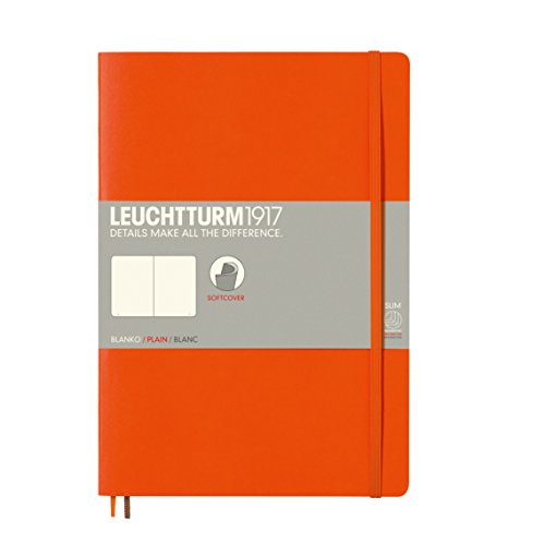 LEUCHTTURM1917 349277 Notizbuch Softcover Composition (B5), blanko, Orange -