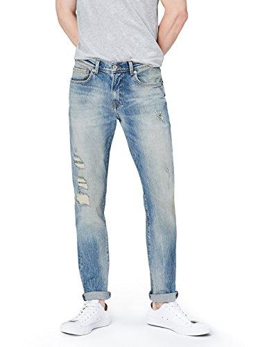 FIND Jeans a Sigaretta Uomo, Blu (Cobalt Wash), W32/L32 (Taglia Produttore: 32)