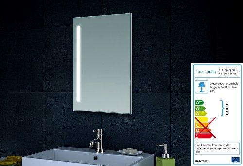 Lux aqua specchio da parete per bagno con illuminazione a led