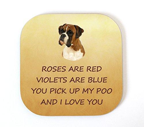 Boxer 'I Love You' Untersetzer aus der Hund lustige Geburtstag Valentinstag Mütter Väter Tag Geschenk