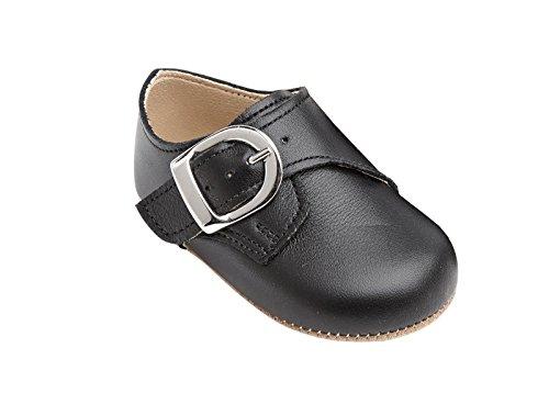 Taufschuhe Baby Schuhe Leder Sandalen Taufe Hochzeit Junge Mädchen schwarz (12-18 Monate, schwarz)