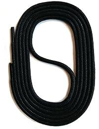 SNORS gewachste Schnürsenkel RUND 18 Farben 45-150cm, 2-3mm, reißfest, Rundsenkel aus Baumwolle Made in Germany für Lederschuhe, Herrenschuhe, Business, Damenschuhe