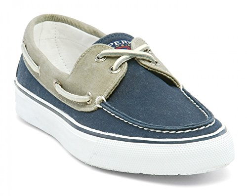 Sperry Top-Sider Herrenschuh Bahama Canvas Navy / Khaki, Größe:42/9 Sperry Topsider Bahama