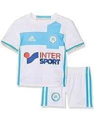 adidas OM H MINI Première - Ensemble de vetêments de club Olympique de Marsella 2015/16 pour Unisex Enfants, Blanc / Bleu
