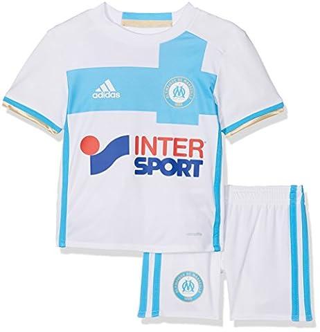 adidas Olympique Marseille Survêtement Garçon, White/Om Blue, FR : 104 (Taille Fabricant : 104)