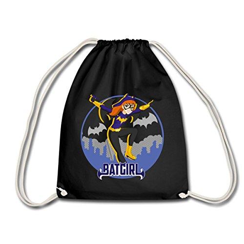 Spreadshirt DC Super Hero Girls Batgirl In Gotham Turnbeutel, Schwarz