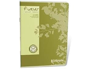 Clairefontaine 17128C forever calli cahier a4–ligné - 10–pack de 48 feuilles