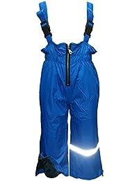 Outburst - Bébés filles et garçons pantalons de pluie pantalons extérieur pantalon de ski salopettes polaire doublure imperméable à l'eau, bleu