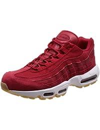 NIKE Men's Air Max 95 Premium Sneaker Gym Red/Team Red/White (9.5 D(M) US)