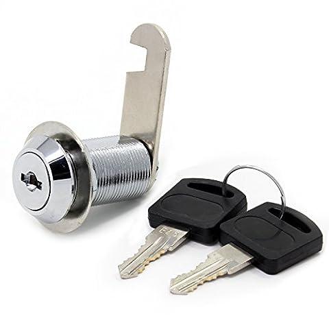 Sécurité Serrure de boîte aux lettres en acier inoxydable Cabinet tiroir Armoire Cam Lock avec touches de Alike 16mm, 30mm Drawer lock