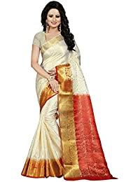Nirja Creation Women'S Cotton Silk Saree With Blouse( Madhuri ) (Red)