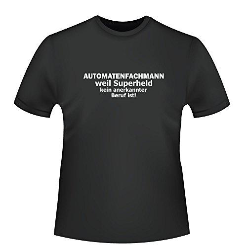 Automatenfachmann - weil Superheld kein anerkannter Beruf ist, Herren T-Shirt - Fairtrade - ID104317 Schwarz