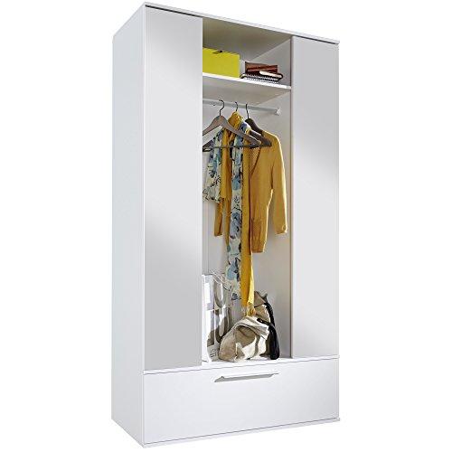 Trendteam Garderobenschrank, Holzwerkstoff, weiß, 115 x 195 x 42 cm