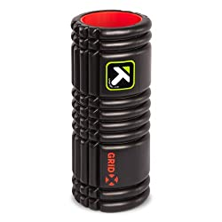 TriggerPoint GRID Foam Roller with Free Online Instructional Videos, X Extra Firm (13-inch), Black