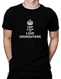 Teeburon Keep calm and love Orangutans T-Shirt