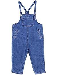 Guiran Pantalones Vaquero con Peto Mono para Bebés Niñas Overalls Pantalón Largo Jumpsuit ...
