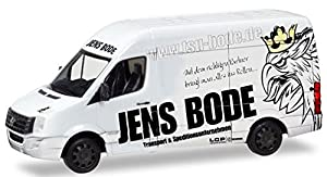 Herpa 93682 VW Crafter Box High Roof TSU Bode, Color