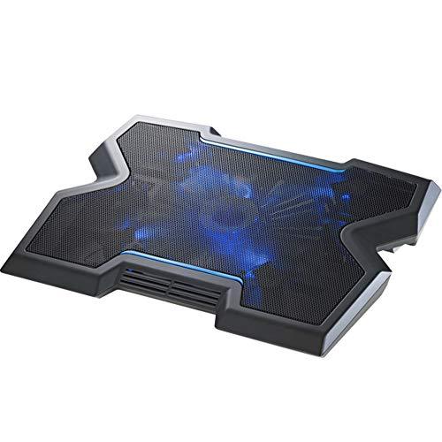 PLAIPH Notebook Cooling Pad, 17-Zoll-Notebook-Kühler Computer Cooling Pad-Halterung 20cm großer Lüfter Blau Geschwindigkeit, geeignet für Laptops