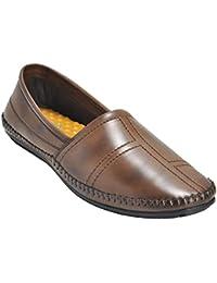 Kolapuri Centre Brown Color Ethnic Slip On Loafers For Men's