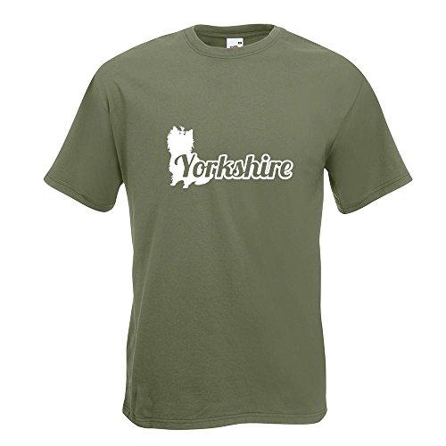 KIWISTAR - Yorkshire mit Name Terrier T-Shirt in 15 verschiedenen Farben - Herren Funshirt bedruckt Design Sprüche Spruch Motive Oberteil Baumwolle Print Größe S M L XL XXL Olive