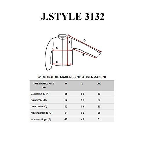 BOLF Herren Mantel Wärmemantel Jacke Winterjacke Übergangsjacke J.STYLE MIX Schwarz_3132