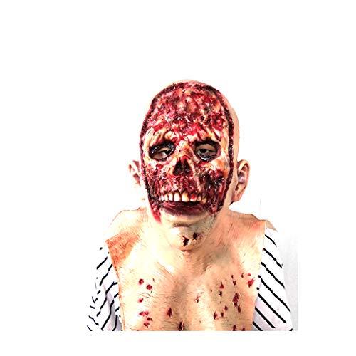 JHLD Gruselig Unheimlich Maske, Blutig Schrecklich Latex Maske Kostüme, Für Halloween Festival Party-A-1 (Fett Kostüm Für Jungs)