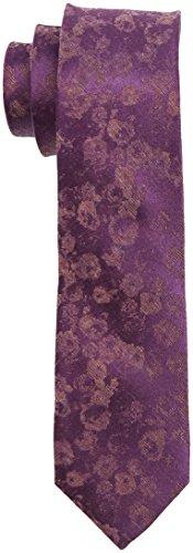Calvin Klein Herren Krawatte Slim 6.4 cm, Rot (Burgundy 605), One Size