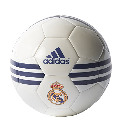 Adidas Real Madrid Pallone da Calcio, Bianco (Bianco/Mornat/Reauni), 5