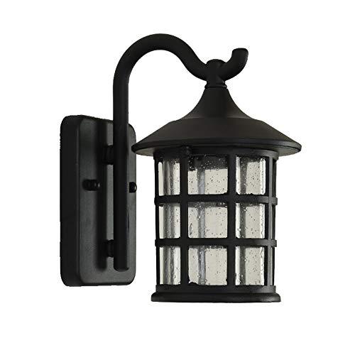 Retro Rústico Luz De Pared Exterior Interior Negro Aluminio Lámparas De Pared...