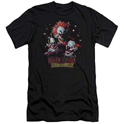 Killer Klowns from Outer Space - - Männer Killer Klowns Premium Slim Fit T-Shirt, Medium, Black