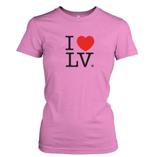 TEXLAB - I love Las Vegas - Damen T-Shirt Rosa