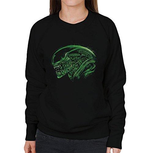 Aliens Space Nightmare Women's Sweatshirt Black