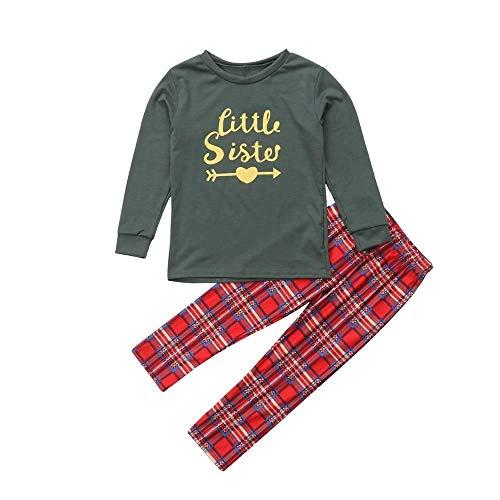 Ears Weihnachtspyjamas Weihnachten Kinder Männer Frauen Weihnachtskinder Langarm-Cartoon Brief gedruckt Shirt Hose Zweiteilige Anzug Eltern-Kind-Abnutzung Home Service Pyjamas Junge Mädchen