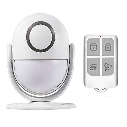 WeniChen Drahtloser Innen-PIR Bewegungs-Detektor-Sensor-Warnung Bewegungsmelder mit Fernsteuerungs-, Warnung- oder Türklingel-Modus, groß für Geschäft oder Häuser Sicherheit (Sicherheit Motion Sensor Alarm)