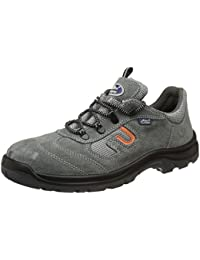 Allen Cooper AC-1459 Safety Shoe, Double Density DIP-PU Sole, Grey, Size 10