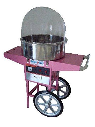 Macchina per lo zucchero filato professionale con carrello e cupola Happy Air