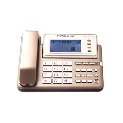SCJ Fashion Corded Telephone Fixed Telephone Landline Multifunction Caller ID/handsfree Wired Fixed Telephone Household Office Commerce Big Button Screen Rotation Landline Big Screen Caller Id