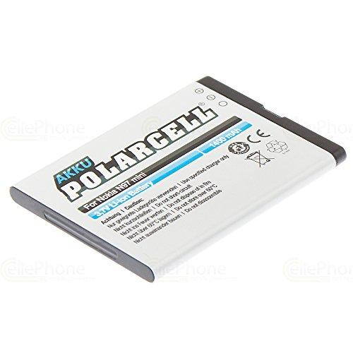 cellePhone PolarCell Akku Li-Ion kompatibel mit Nokia E5-00 / E7-00 / N8-00 / N97 Mini (Ersatz für BL-4D) Mini N97 Handy