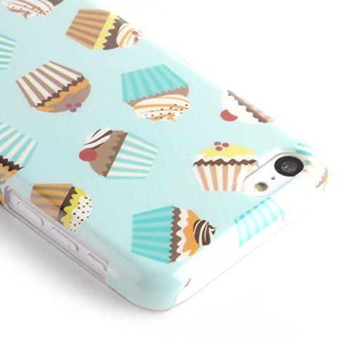 JAMMYLIZARD | Zuckersüße Cupcakes Back Cover Hülle für iPhone 5C, SCHOKO-MINT CUPCAKES - TIRAMISU