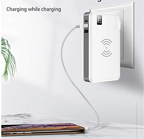 TIITAN Wireless Intelligent Charger,10000 mAh Portable Power Bank Detachable USB Wall Charger Multi-Protection Image 9