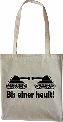 Mister Merchandise Tote Bag Bis einer heult Borsa Bagaglio , Colore: Nero Naturale