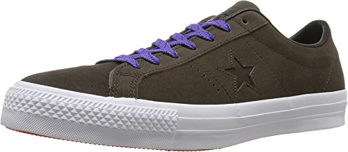 Converse One Star Pro Suede Ox Hot Cocoa/Black/White 10UK (Converse Star Pro)