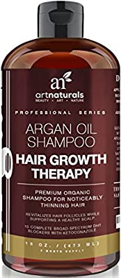 Art Naturals Organic Argan Oil Hair Loss Shampoo for Hair Regrowth 473ml - Sulfate Free - Best Treatment for Hair Loss, Thinning & Aging - Product For Men & Women - Infused with Biotin - 3 Month Supply by ArtNaturals